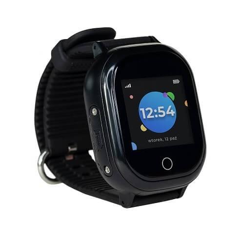 Zegarek GPS dla dziecka z aplikacją Bezpieczna Rodzina w kolorze czarnym